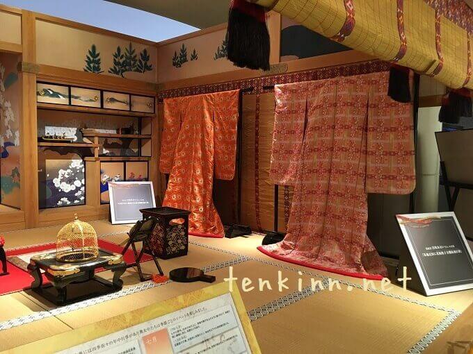 鹿児島を観光、篤姫の着物