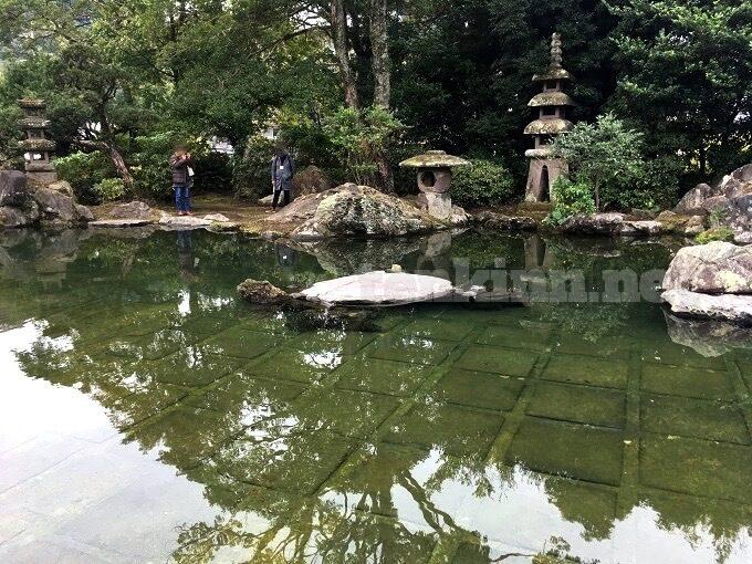 旧島津氏玉里邸庭園、上御庭が一年に一度公開される