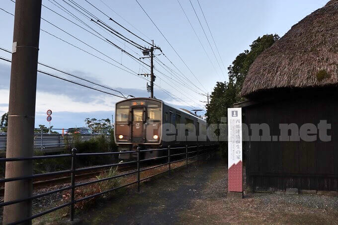 西郷隆盛蘇生の家と電車
