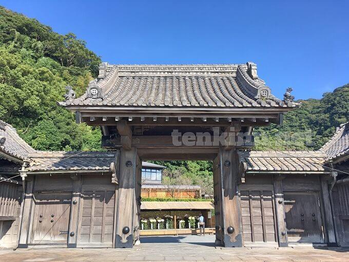西郷どんのロケ地、仙巌園の正門