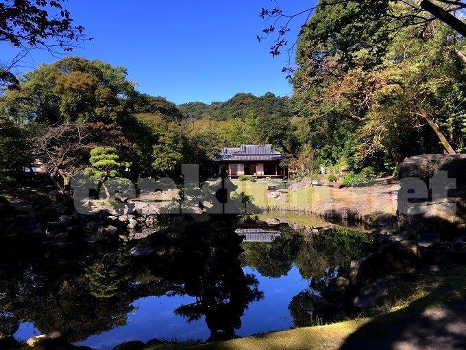 旧島津氏玉里邸庭園鶴の池