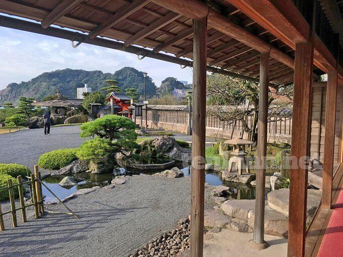 仙巌園、御殿からお殿様が見た景色