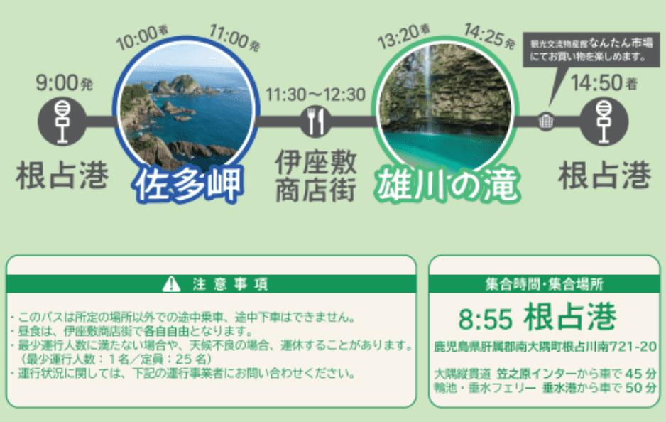 雄川の滝にバスで行く