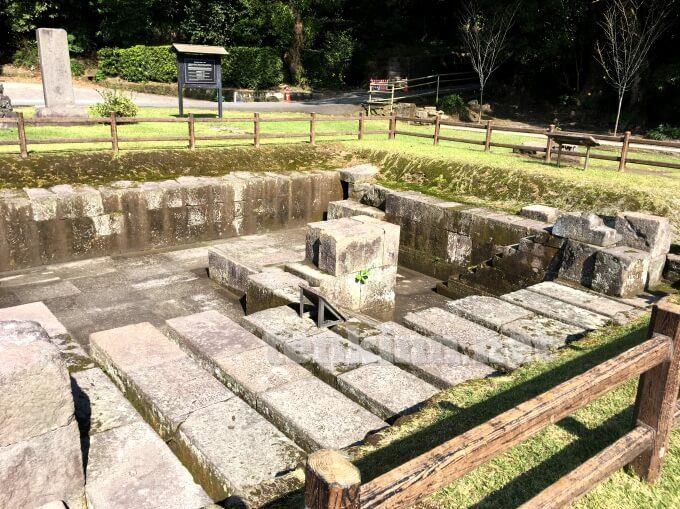 仙巌園の世界遺産、反射炉跡地