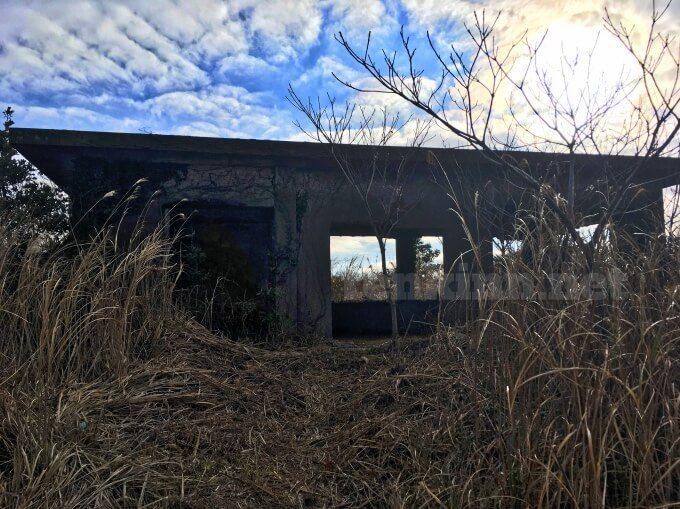 狐ヶ丘高原にある建物跡