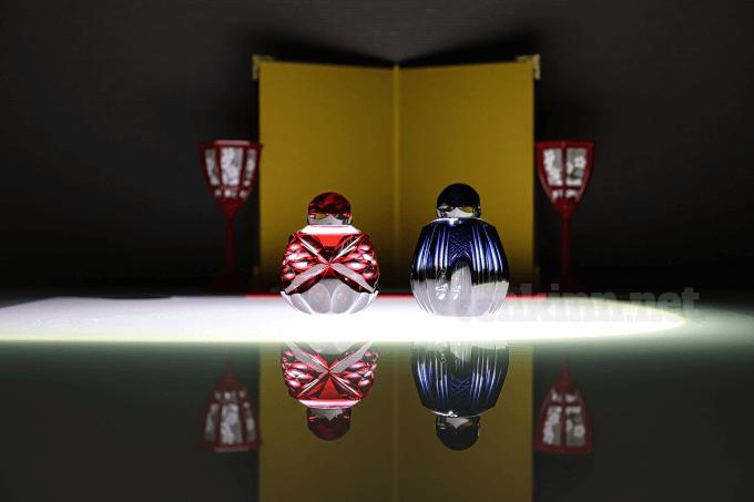 仙巌園、島津薩摩切子のお雛様