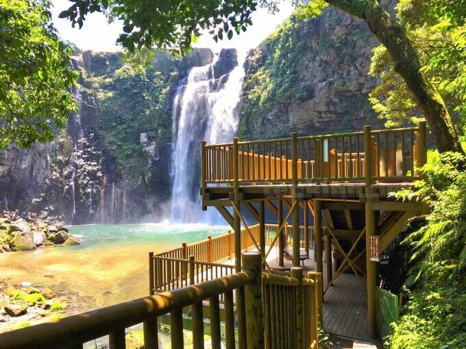 雄川の滝の展望台はどんな感じ?