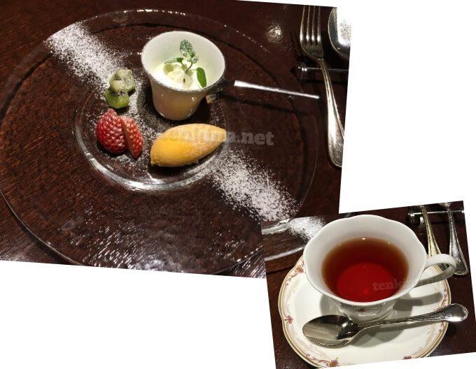 城山ホテル鹿児島の鉄板焼楠のディナーデザート