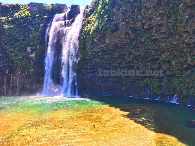 雄川の滝でダムの放流があると綺麗じゃない