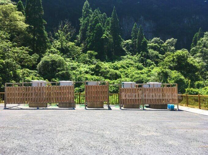 雄川の滝のトイレは仮設トイレ