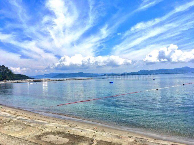 阿久根大島の海水浴場は波がない