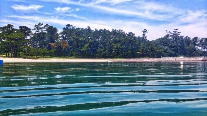 阿久根大島の海は波がない