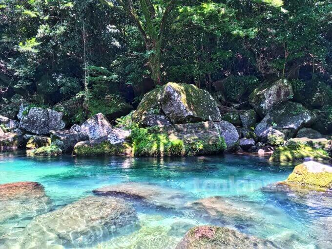 雄川の滝が残念でも、途中の川は綺麗だから救われる