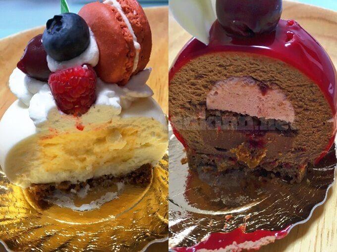 城山ホテルのケーキはこんな感じ