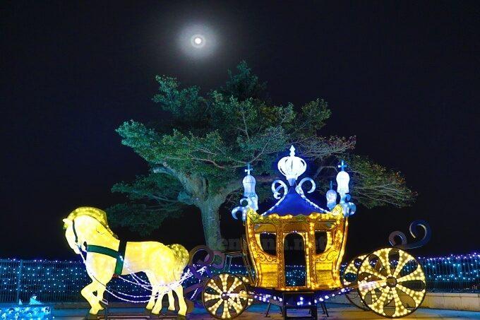 城山ホテル鹿児島の幻想的なイルミネーション