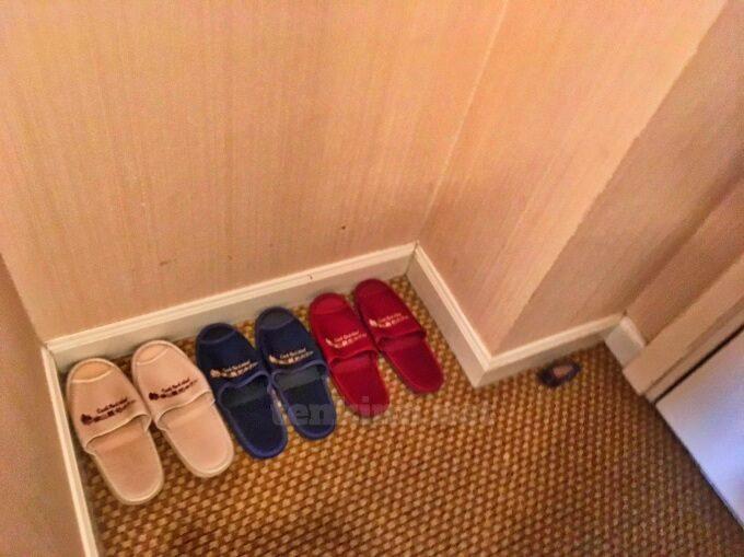 城山ホテル鹿児島のスリッパは使い捨てじゃない