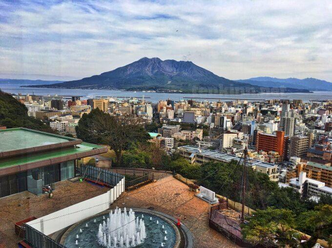 城山ホテル鹿児島からの眺め。桜島が絶景