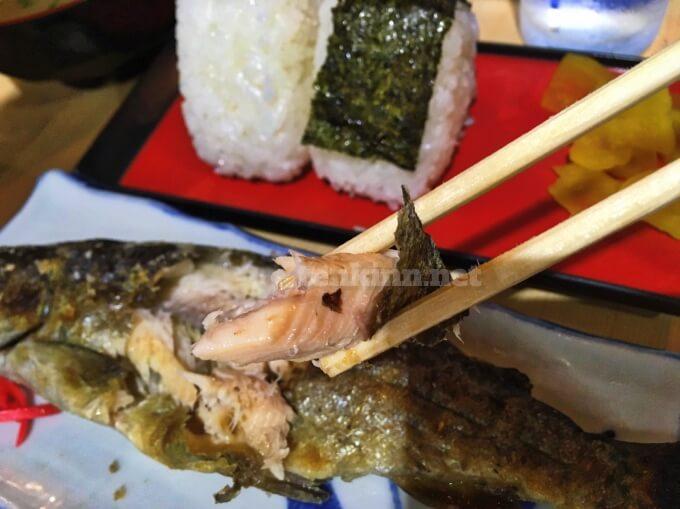 唐船峡の焼き魚は、マス!