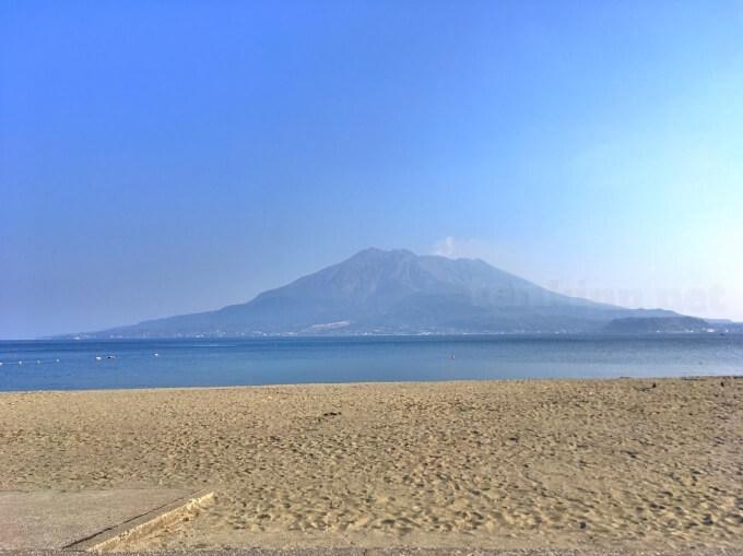 絶景の海に浮かぶ桜島!!が見れるのは磯海岸