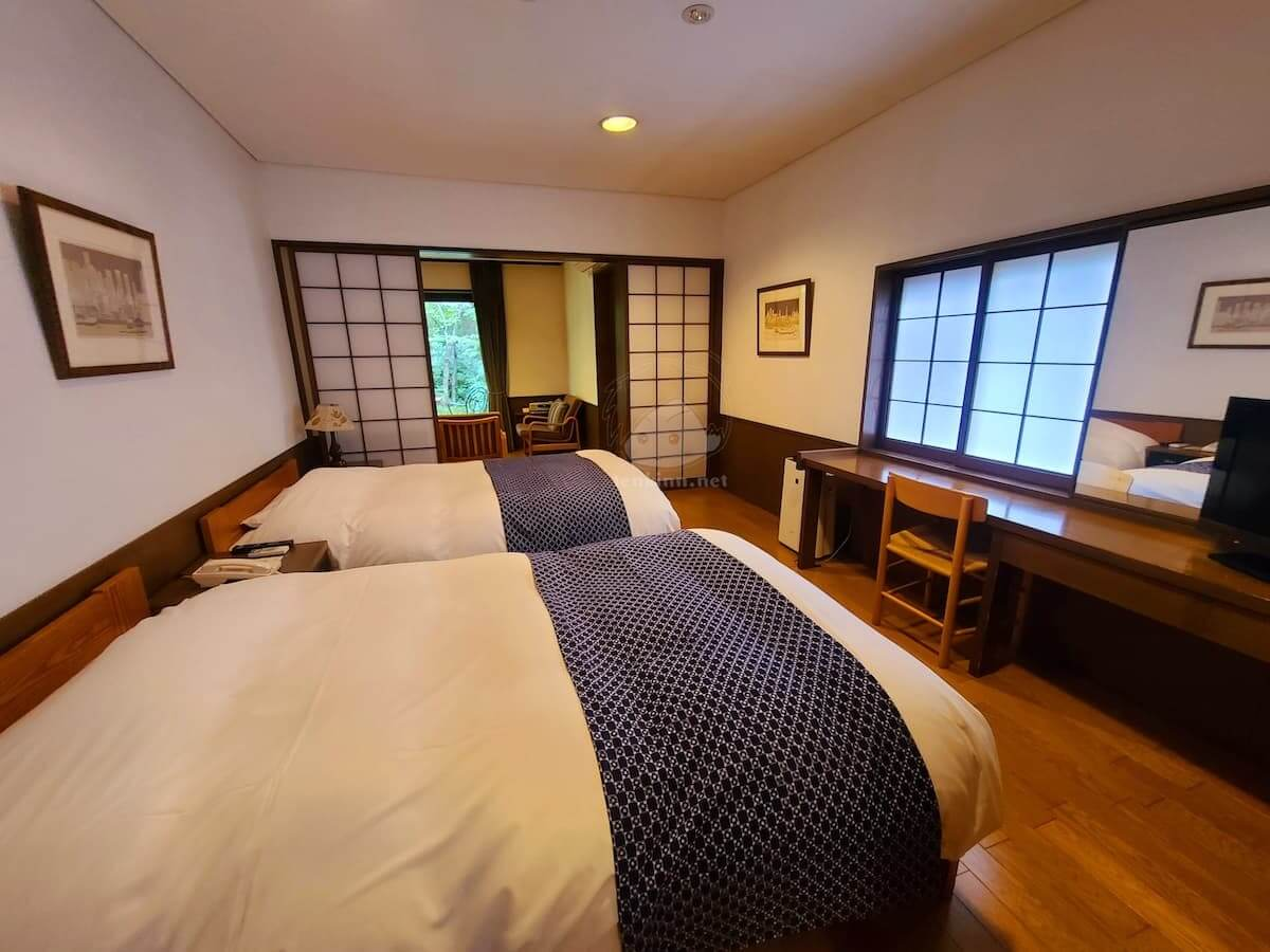 由布院玉の湯の部屋柚子寝室