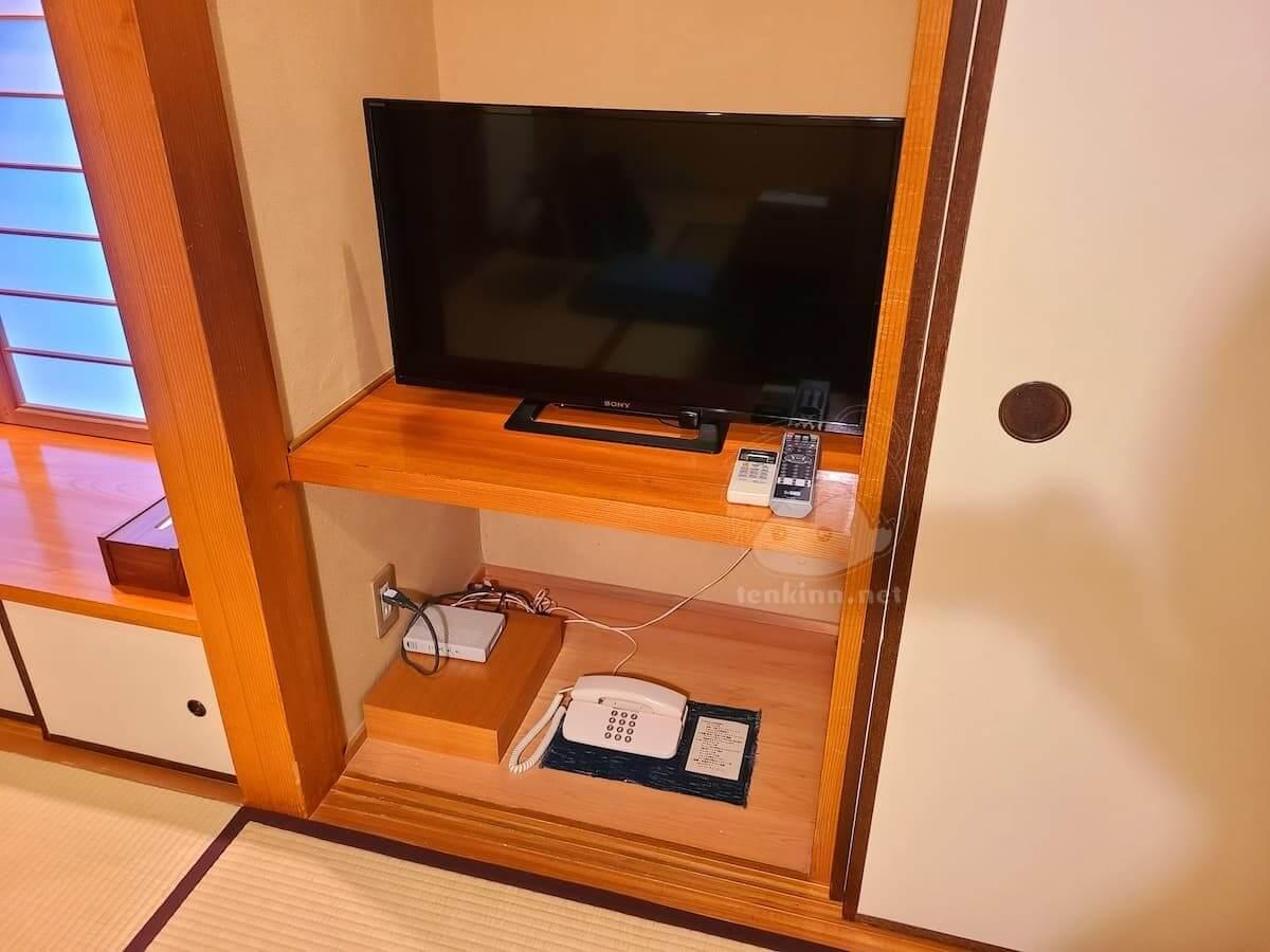 由布院玉の湯の部屋柚子テレビと電話