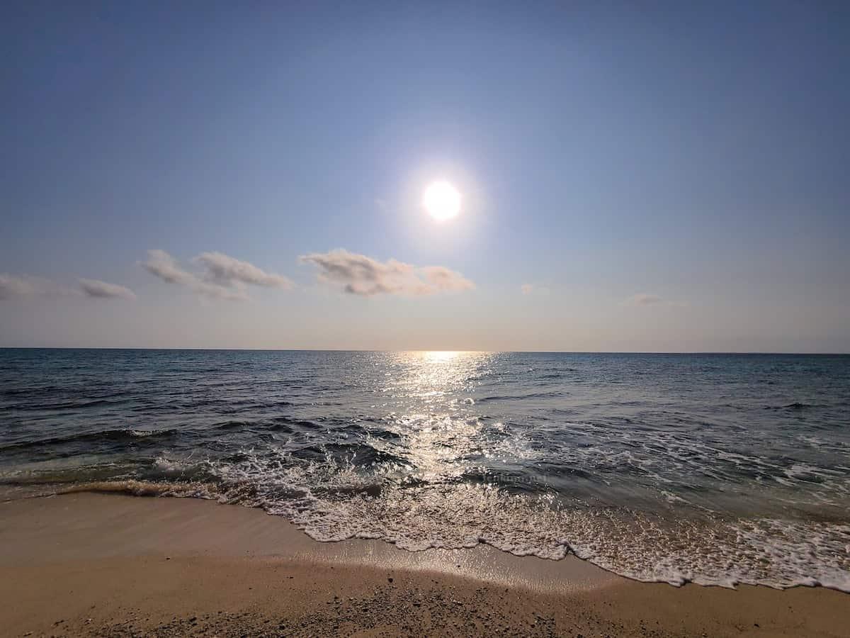 長間浜の夕日。星空も綺麗だよ!