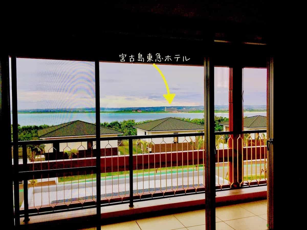 シーウッドホテルから宮古島東急が見える