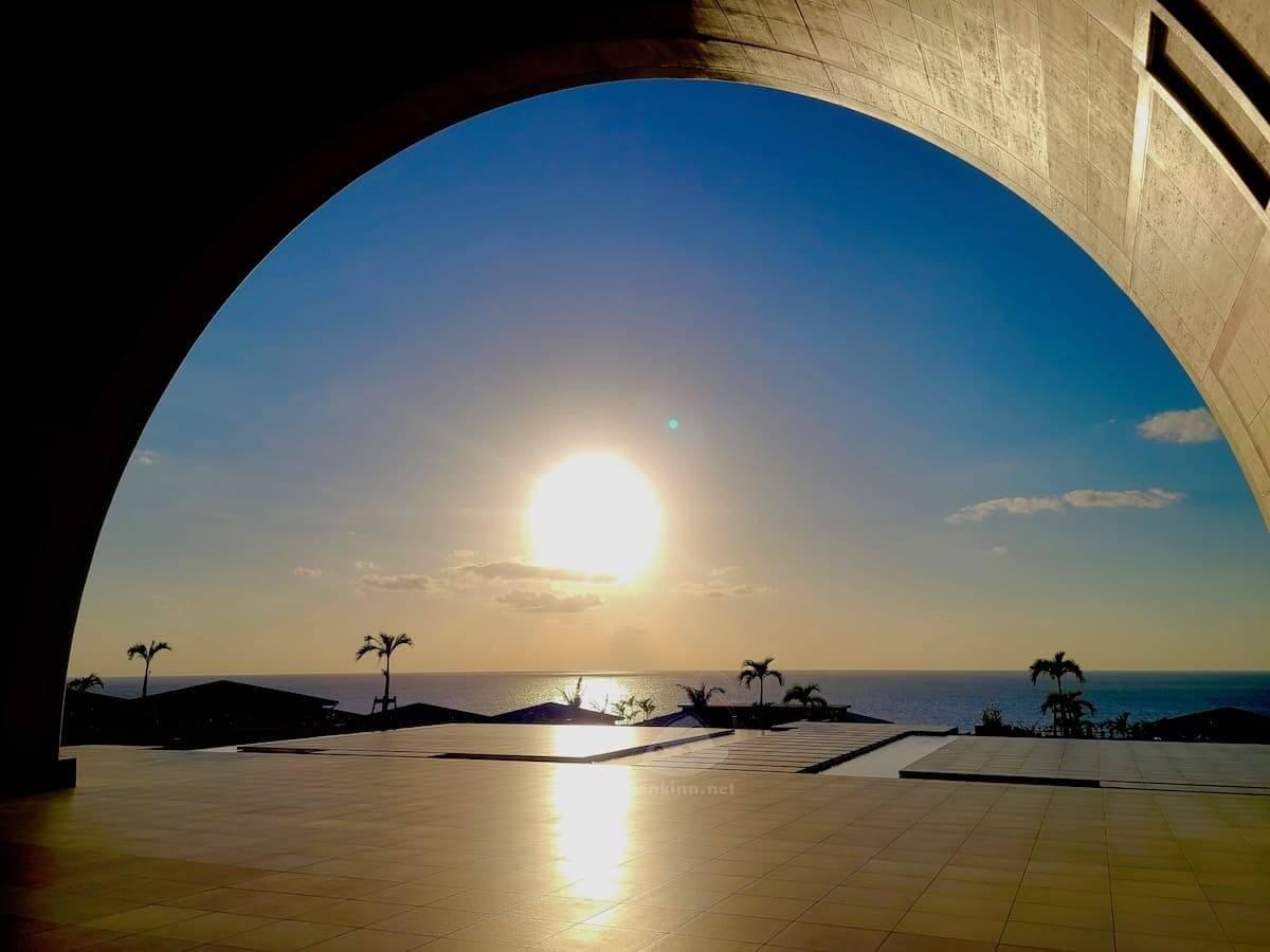 宮古島来間リゾート シーウッドホテルの夕日
